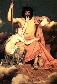 """Ingres, Jean-Auguste-Dominique """"Júpiter y Tetis"""", 1811"""